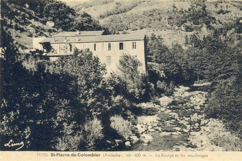 L'une des nombreuses usines de moulinage qu'a pu compter le village