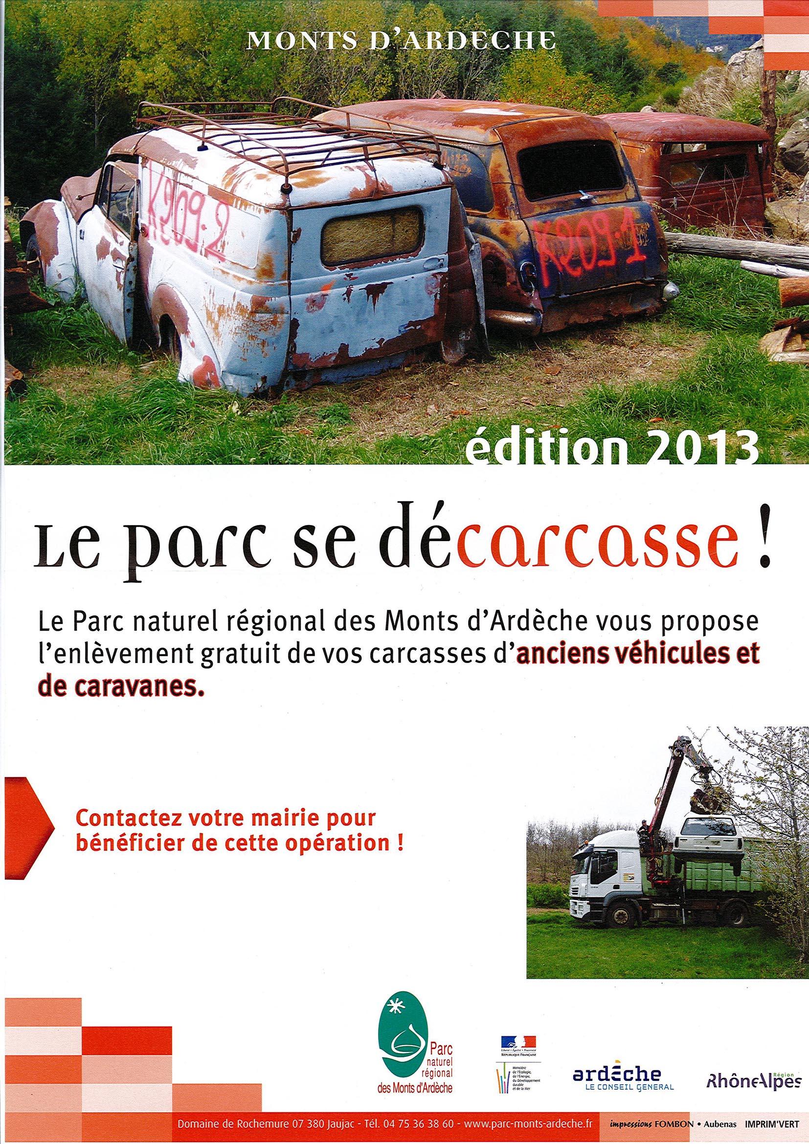 """Affiche """"Le Parc se décarcasse"""""""