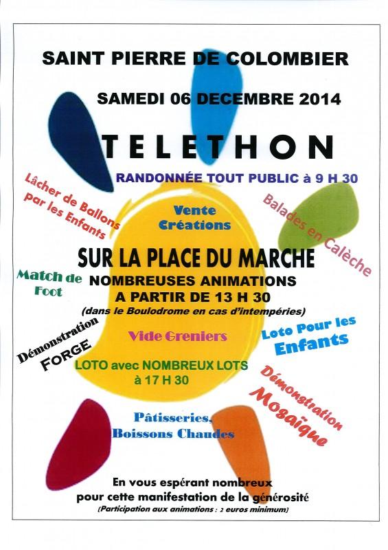 affiche telethon